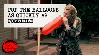 Pop the Balloons as Quickly as Possible | Full Task | Taskmaster