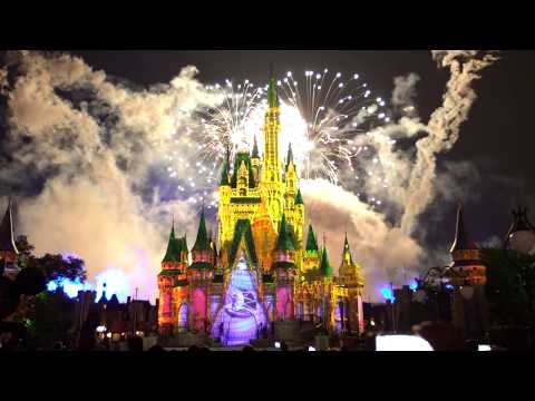 4K Happily ever after fireworks Partners Statue Magic Kingdom 2017