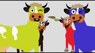 Renkli inekler, Türkçe Eğitici Çizgi Filmleri, inek Çizgi Film, Hayvanları Tanıyalım, Sesi Videoları