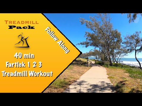 Interval Workout Fartlek 1-2-3 40 min Virtual Treadmill Run| Ambient Sounds