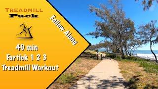 Interval Workout Fartlek 1-2-3 40 min Virtual Treadmill Run  Ambient Sounds