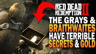 Every Braithwaite & Grays Family Secret & GOLD! Easy Money! Red Dead Redemption 2 Easter Eggs [RDR2]