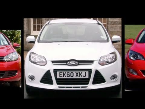 New Ford Focus vs VW Golf vs Vauxhall Astra  Auto Express  YouTube