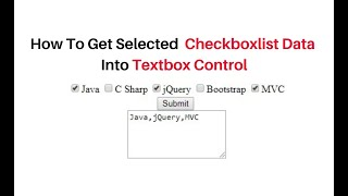 how to get selected data from checkboxlist into textbox c#4.6