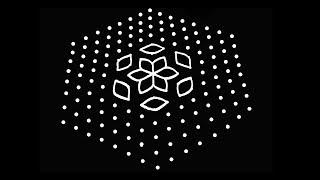 Simple Kolam Design with 15X8 Dots | Rangoli Designs | Kolam Designs | Muggulu Designs | Rangoli