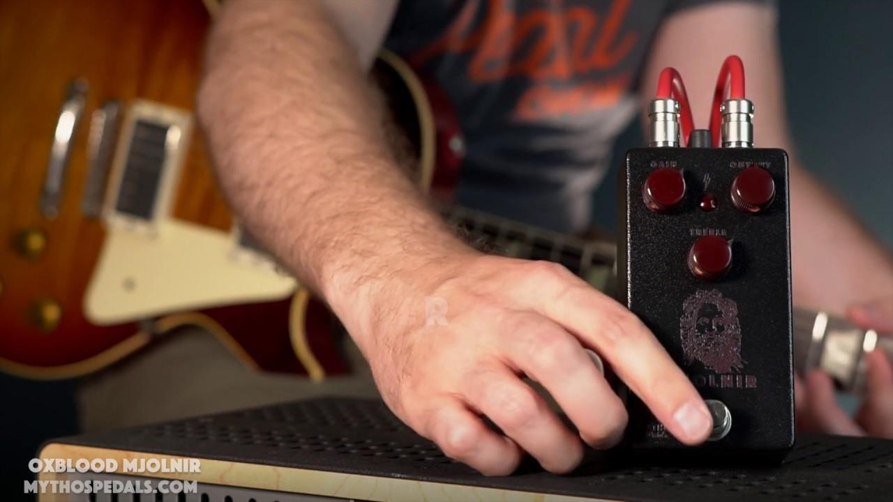 Mythos & Carter Vintage Guitars Oxblood Mjolnir Overdrive Pedal