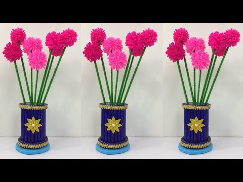 DIY Flower Vase // Easy Flower Vase Making At Home // Room Decorating Ideas // Simple Craft