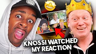 German YouTuber  KNOSSI REACTED TO MY VIDEO!!!!!!