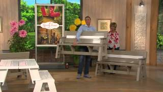 Convert-a-bench Ultra Ii Outdoor 2-in-1 Bench-to-table W/5 Year Lmw With Dan Hughes