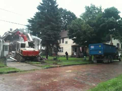 Knocking down a Foreclosed Home