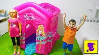 Егорка и Розовый Надувной ДОМИК для КУКЛЫ !!!