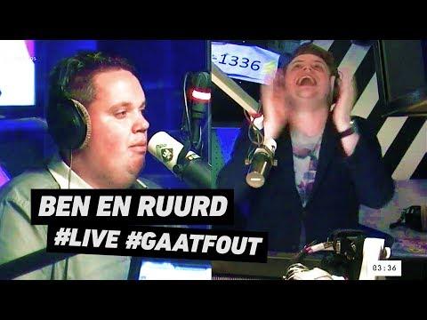 Ben en Ruurd - Que Viva La Vida (LIVE @ ROB #3FM) #gaatfout