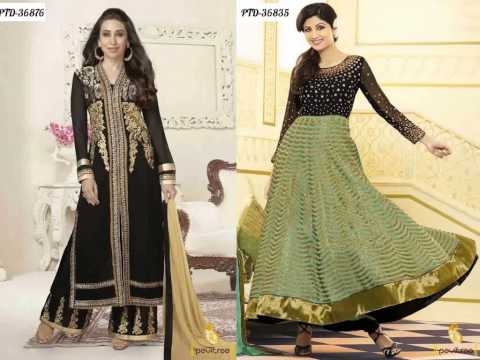 Bollywood Celebrity Karishma Kapoor and Shilpa Shetti Punjabi Salwar Suits