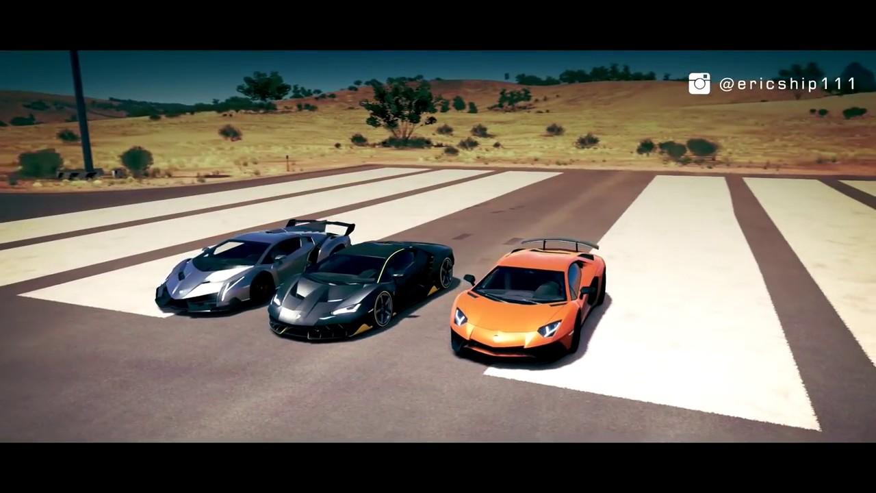 Lamborghini Centenario Vs Veneno Vs Aventador Sv Lp750 4 Drag Race