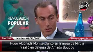 Hugo Alconada Mon se plantó y defendió a Amado Boudou no te pierdas las caras de las gorilas.