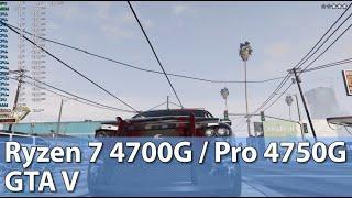 Ryzen 7 4700G / Pro 4750G APU Test  - Grand Theft Auto V