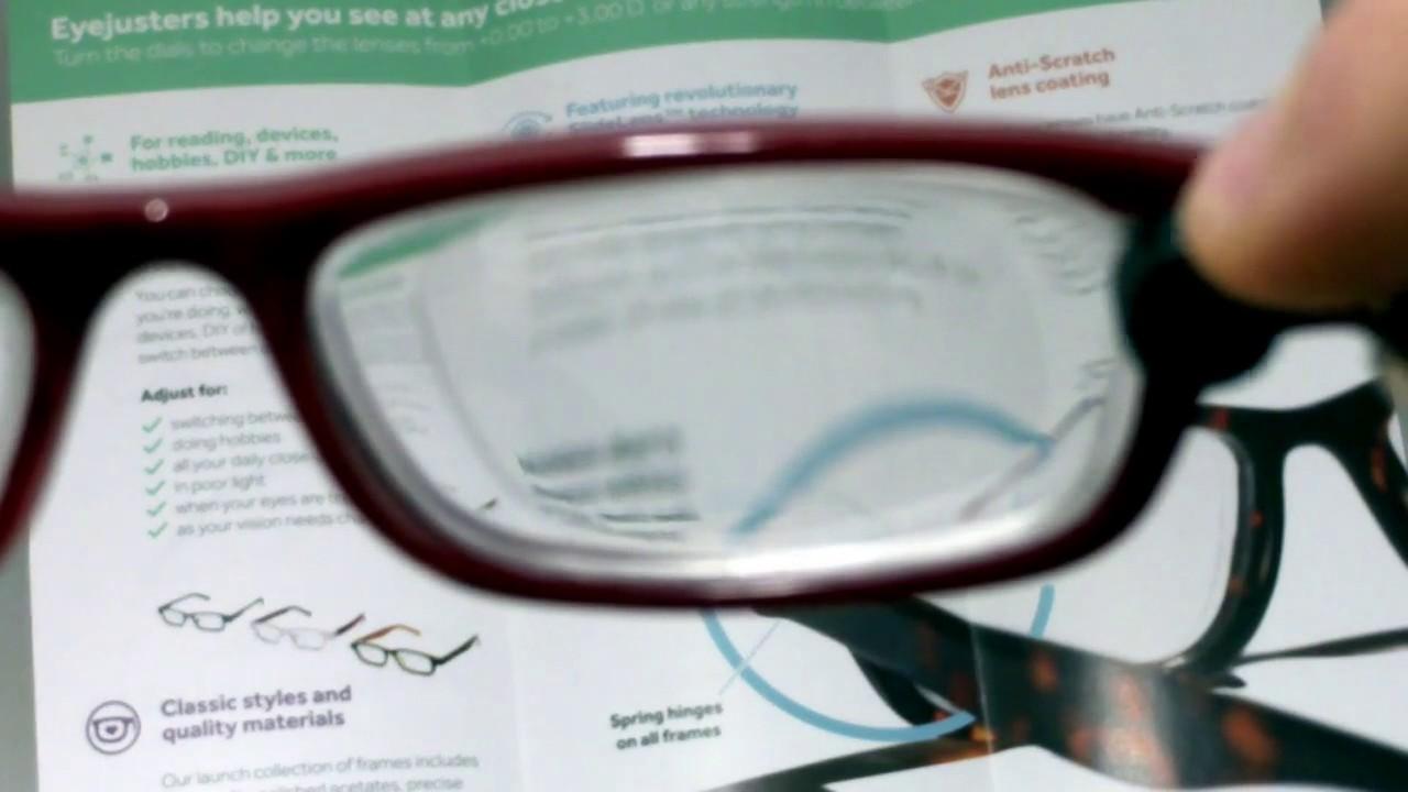 81d01b163 Self-Adjustable Glasses - YouTube