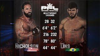 PFL Full Fight Friday: Philipe Lins vs. Alex Nicholson from PFL 4: Long Island