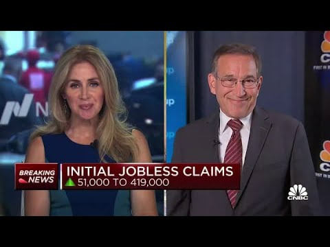 U.S. weekly jobless claims total 419,000 vs. 350,000 estimate