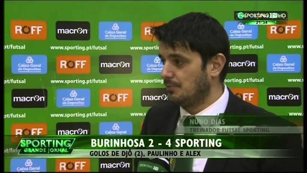 Futsal :: 16J :: Burinhosa - 2 x Sporting - 4 de 2014/2015