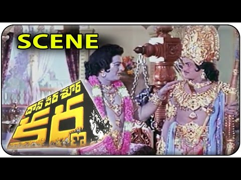 Sri Krishna Boons to Duryodhana & Arjuna || Daana Veera Soora Karna || NTR , Sharada