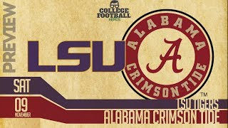 Alabama Crimson Tide vs LSU Tigers - Preview & Prediction - College Football Hype!