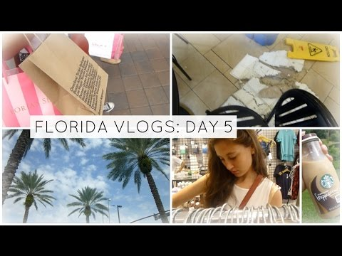 FLORIDA VLOG DAY 5! (Outlet mall shopping, The ceiling falls?!)
