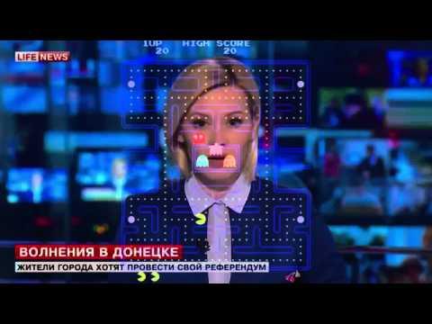 """PAC-MAN """"Waka Waka"""" TV presenter \ Телеведущая Вака Вака"""