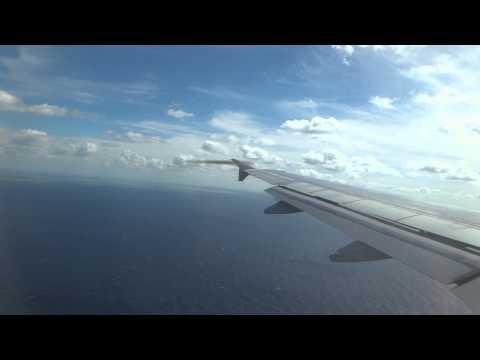 Final Approach to GCM Owen Roberts International Airport in Grand Cayman