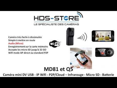 Q5 MD81 Mini dv IP MD80 wifi 640x480 P2P Cloud Doyog iphone android