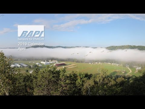 BAPI 2019 Calendar, April - Ribbon Clouds Over the Kickapoo
