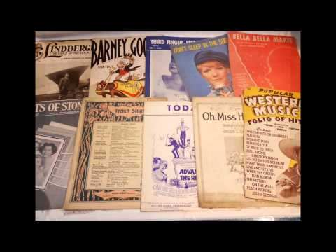 140 Pounds of Vintage and Antique Sheet Music for Sale