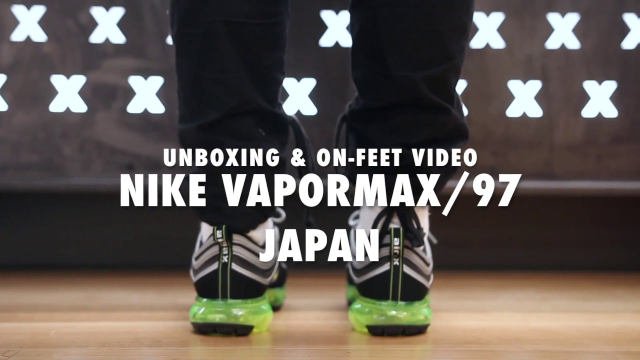 competitive price 669d0 ebeea Nike Vapormax/97 Japan Unboxing & On feet Video at Exclucity