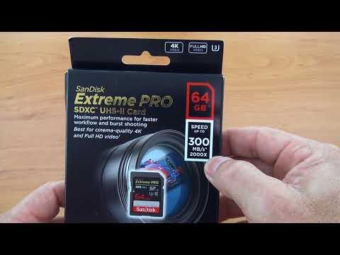 Unboxing: Cartão de Memória Sandisk  Extreme PRO 64GB 300mbs SDXC UHS-II