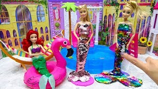 DIY Mermaid Costumes Barbie Rapunzel Crafts for Pool Party