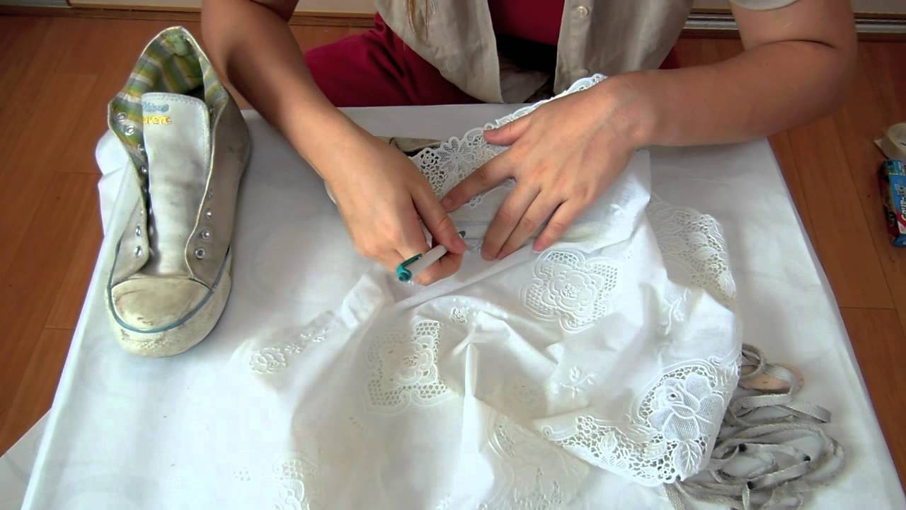 Diy Lace Covered Shoes