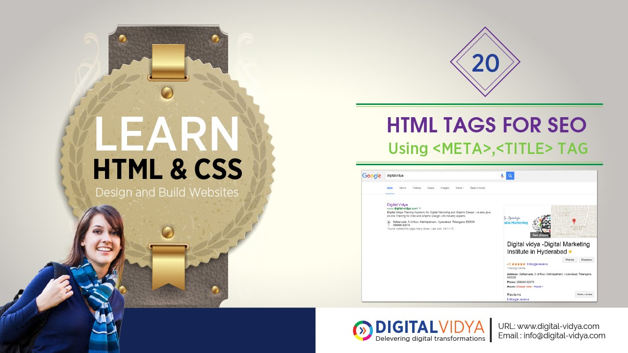 [Telugu Tutorial] html seo tags - meta tag -title tag - alt tag | Best Seo  Tags in HTML
