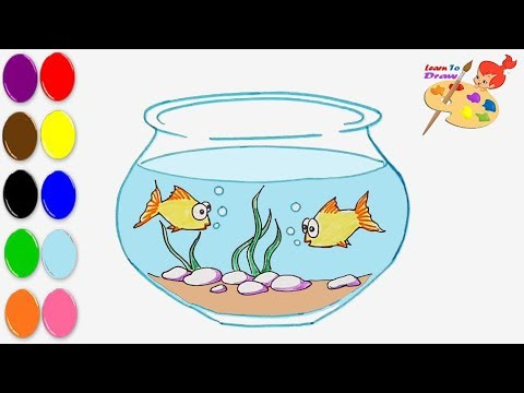 How To Draw A Fish Bowl  || Art Video || Drawing
