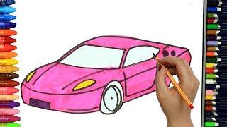 Dibujos para pintar   Dibujos para dibujar   Dibujos para colorear   Cómo dibujar coche rosa