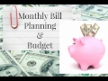 MY MONTHLY BILL PLANNING AND BUDGET 2017