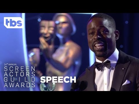Sterling K. Brown: Acceptance Speech | 24th Annual SAG Awards | TBS