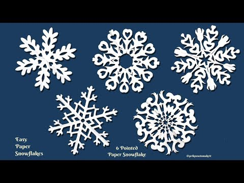 Paper snowflake tutorial - learn how to make snowflakes, Room Decoration