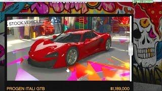 GTA 5 Online 780mill Spending Spree - Itali GTB Build