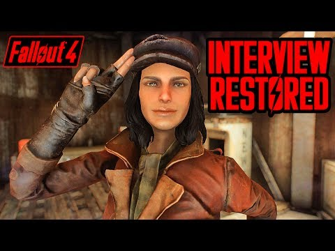 Fallout 4 Cut Content - PIPER INTERVIEW RESTORED - New Dialogue incl. Old Life, Soldier, & Lawyer