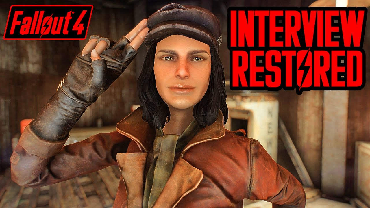 Fallout 4 Cut Content - PIPER INTERVIEW RESTORED - New Dialogue incl  Old  Life, Soldier, & Lawyer