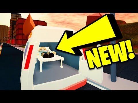 Roblox Jailbreak New Ambulance Jailbreak Ambulance Update Volcano Erupting Secret Asimo Account Found Roblox Jailbreak Update Youtube