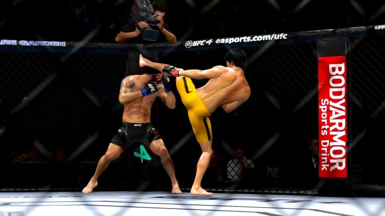 BRUCE LEE VS ALEX PEREZ *CLASH*😱🔥💯 | UFC 4 BRUTAL FIGHT | UFC 4 2021 | UFC 4 K1 RULES | Mr. Jojo