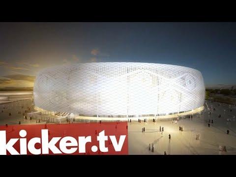 Vollklimatisiertes WM-Stadion in der Wüste