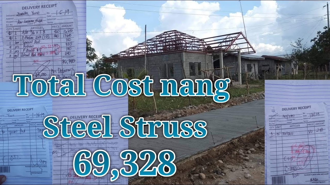 Ofw Simple House Steel Trusses Step By Step With Total