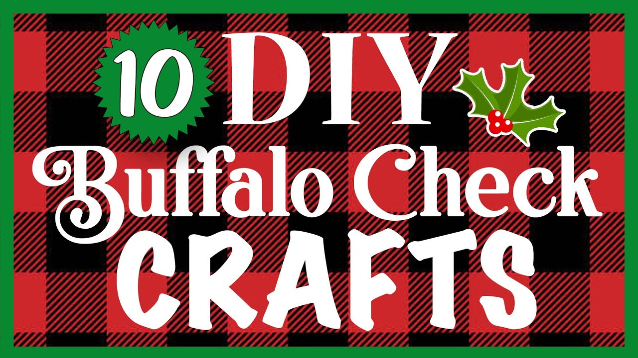 10 EASY Buffalo Check CHRISTMAS Crafts! 🎄 Dollar Tree DIYs